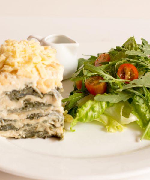 Meat or veg lasagna